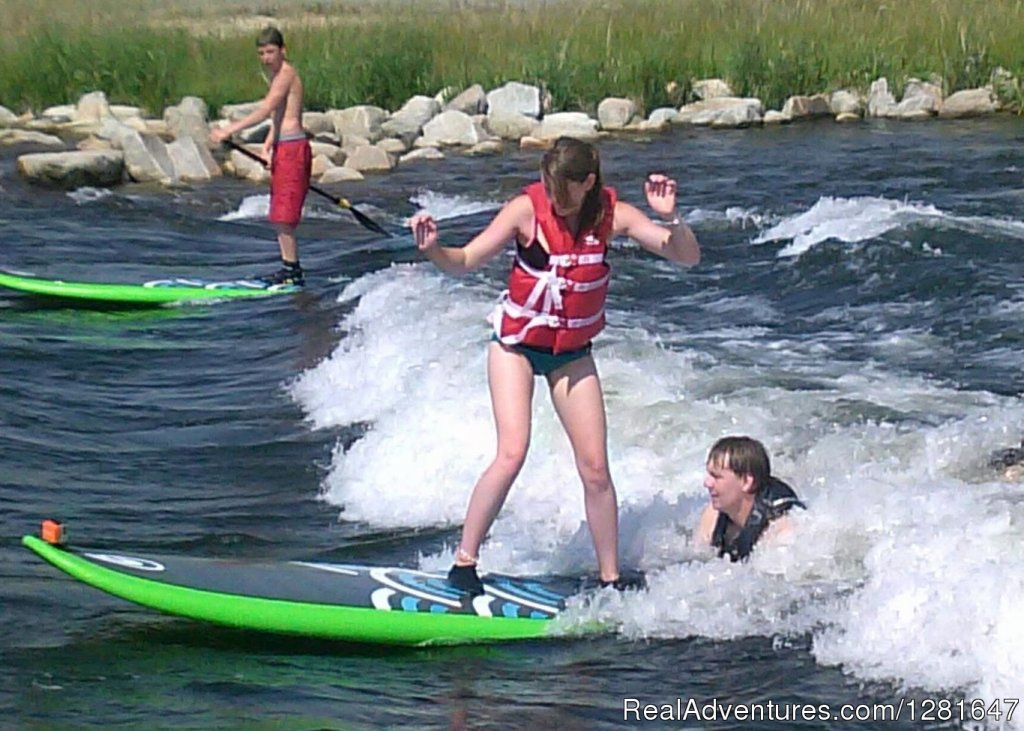 Stand Up Paddleboarding- Kelly's Whitewater Park | Image #1/6 | Cascade, Idaho  | Hotels & Resorts | Quaint Inn in the Idaho Mountains, Ashley Inn