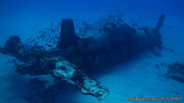 Corsair wreck on the more advances dives in Hawaii