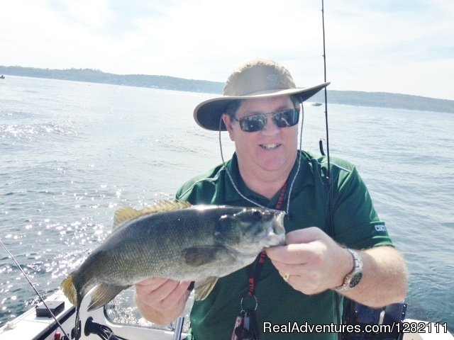 Jim's 3.5 lb Lake Geneva Smallie | Image #4/8 | Small groups, Big catches with Wild Dog Good Guyde