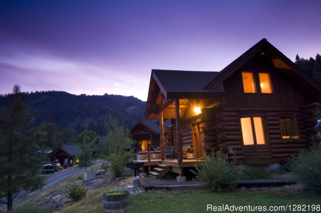 At River Dance Lodge, Idaho's Outdoor Adventure Resort, our handcrafted log cabins are comfortable retreats with hot tubs and gas stoves on the Clearwater River.  Vacation with your family, plan your destination wedding or retreat with a group.