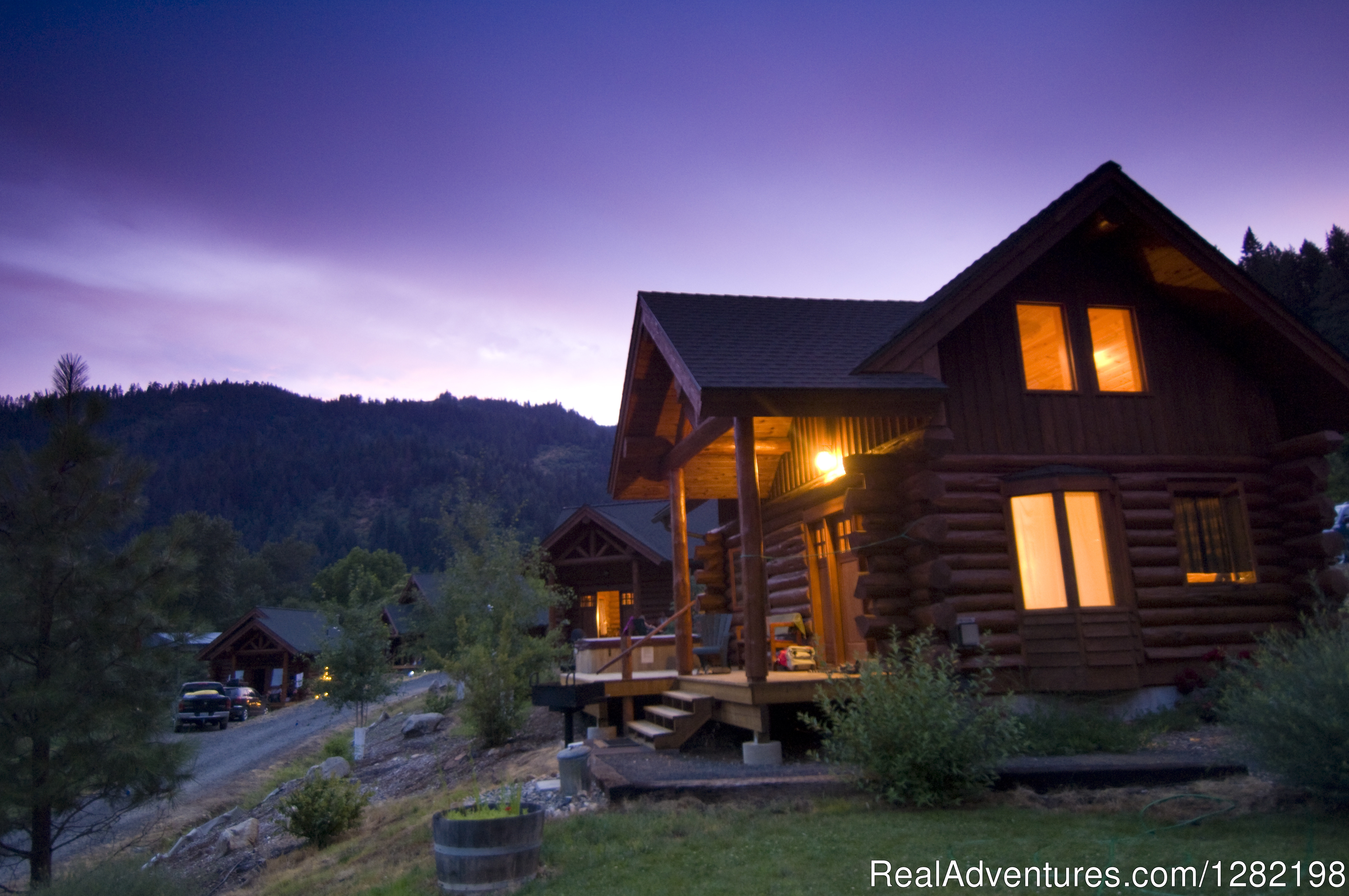 Two Bedroom Handcrafted Log Cabins at River Dance Lodge