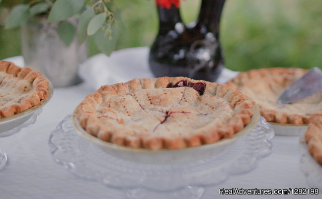 Famous Huckleberry Pie from the Syringa Cafe - River Dance Lodge