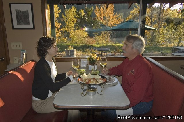 Dining at the Syringa Cafe at River Dance Lodge