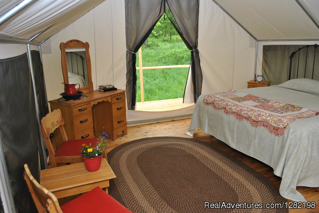 Glamping Interior - River Dance Lodge