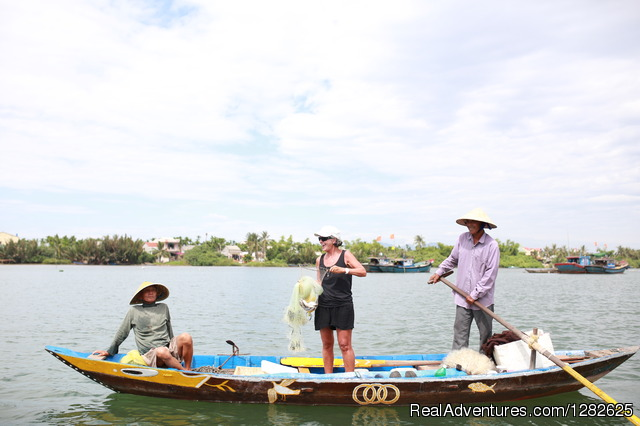 Cycling and working as fisherman in Hoi An: