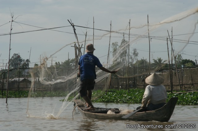 Fishing in Mekong river around Mekong Rustic - Taste of  Mekong Delta