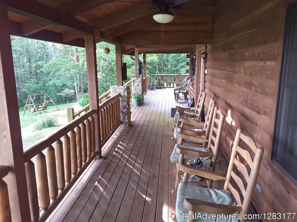 Watch Wildlife while on the Front Deck | Image #14/26 | Adventurewood Log Cabin HotTub/Fireplace/PoolTable