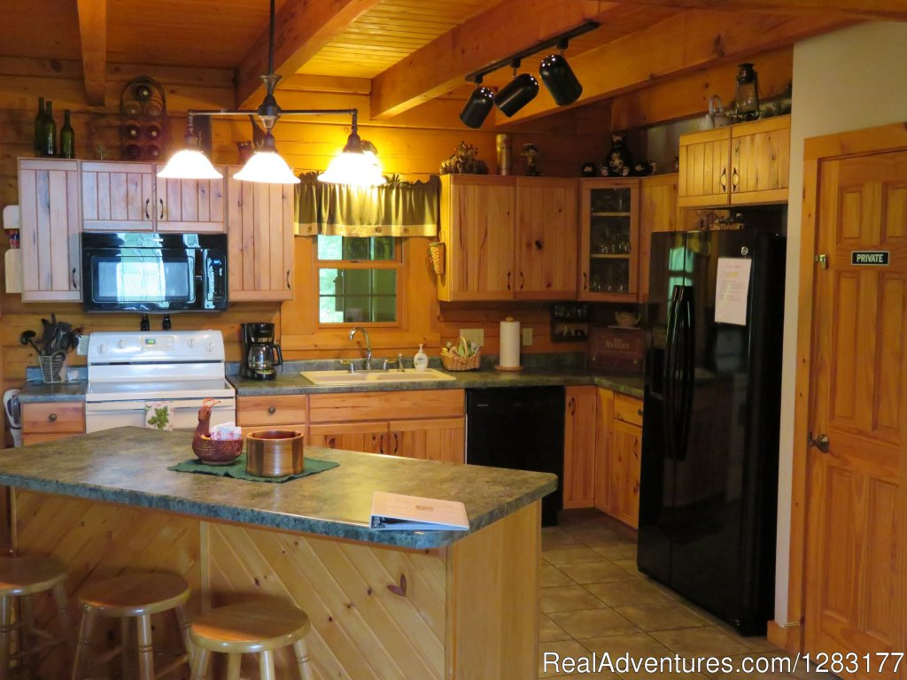 Fully Equipped Kitchen | Image #9/26 | Adventurewood Log Cabin HotTub/Fireplace/PoolTable