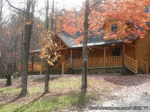 Fall Colors Surround this Beautiful Brown County Loc Cabin | Image #23/26 | Adventurewood Log Cabin HotTub/Fireplace/PoolTable