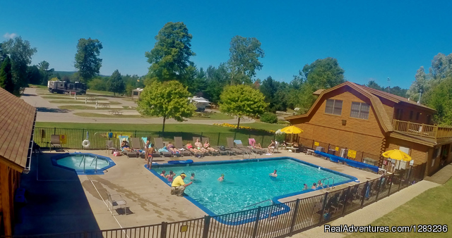Petoskey KOA: Petoskey RV & Cabin Resort heated pool and hot tub