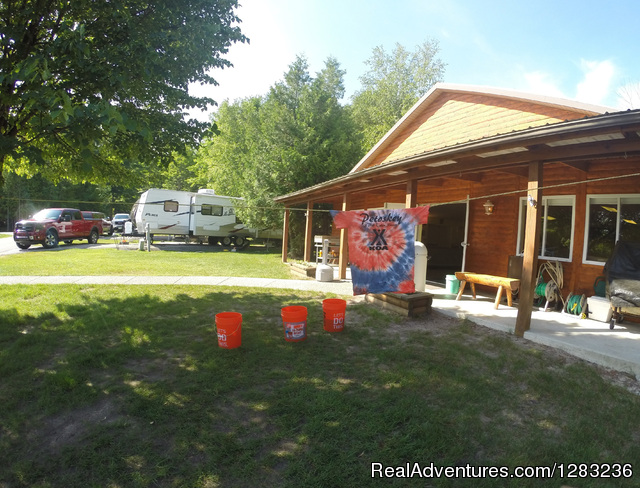 One of our Activities, Tie Dye - Petoskey KOA