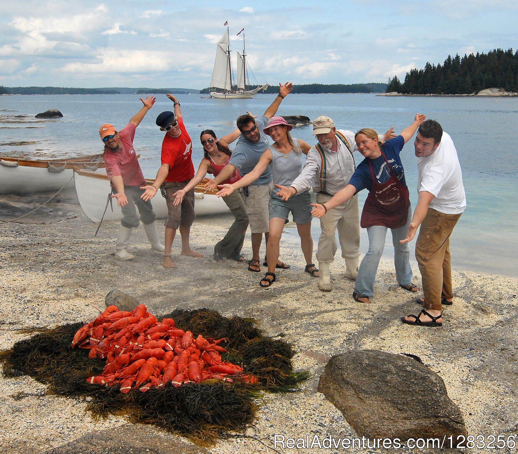 Traditional Maine Lobster Bake Aboard Every Cruise