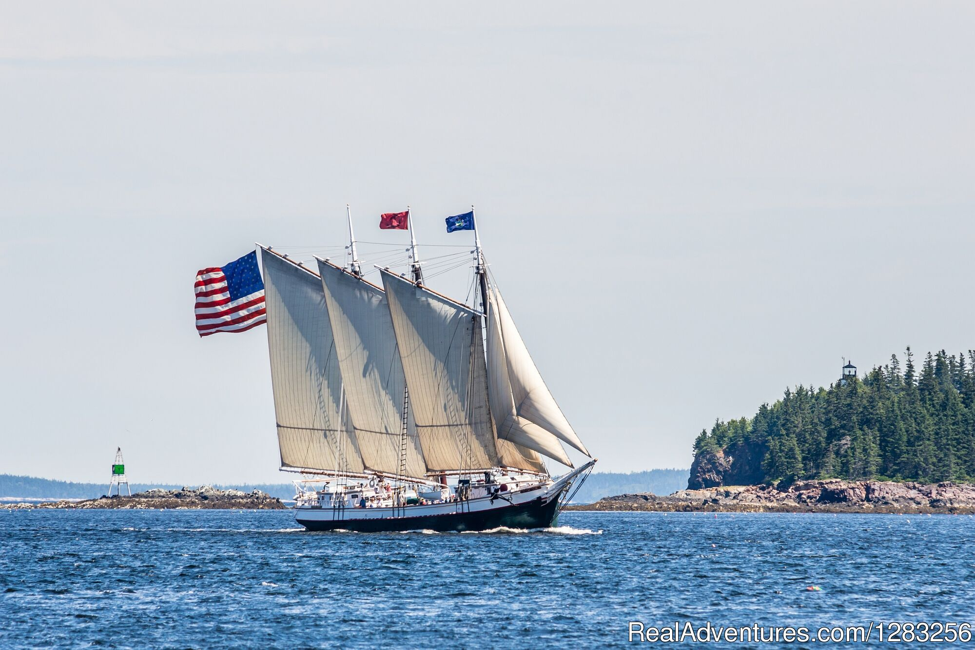 Schooner Victory Chimes at Full Sail