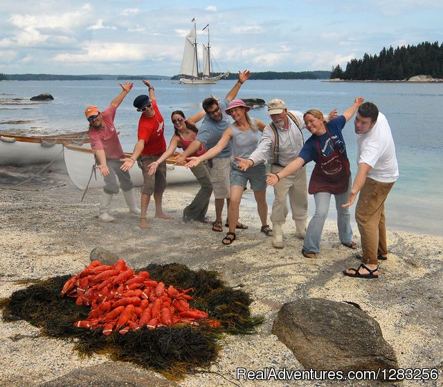 Traditional Maine Lobster Bake Aboard Every Cruise - The Maine Windjammer Association