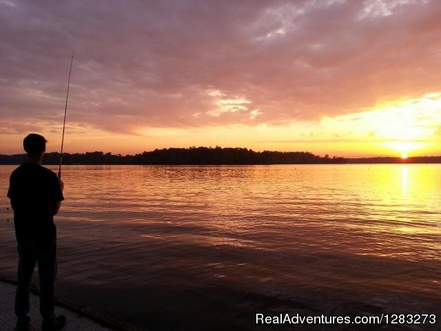 Hidden Treasure RV dock fishing - Hidden Treasure RV Resort