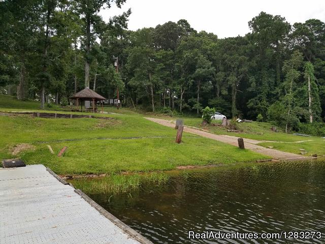 Hidden Treasure RV boat launch & gazebo - Hidden Treasure RV Resort