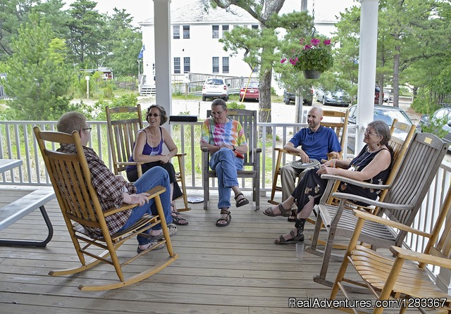 Porch talks at DeWolfe - Coastal Retreat & Conference Center at Ferry Beach