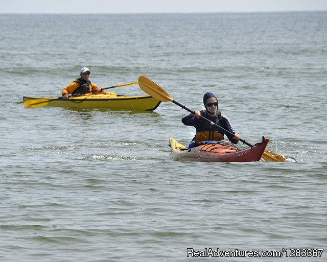 Kayaking on the beach - Coastal Retreat & Conference Center at Ferry Beach