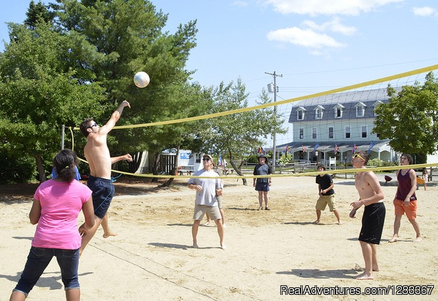 Volleyball Court - Coastal Retreat & Conference Center at Ferry Beach