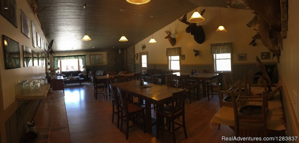 Another View Of The Dining Area Looking Into The Sitting Are | Image #2/4 | Allagash Guide Service
