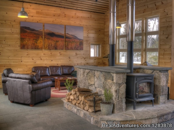Great Room at Stratton Brook Hut - Maine Huts & Trails