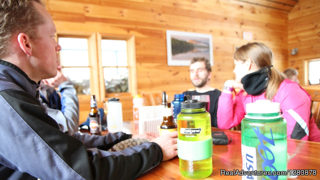Dinnertime at Flagstaff Hut - Maine Huts & Trails