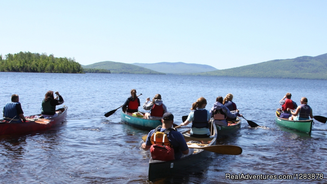 Canoeing on Flagstaff Lake - Maine Huts & Trails