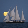 Sailing on a beautiful schooner