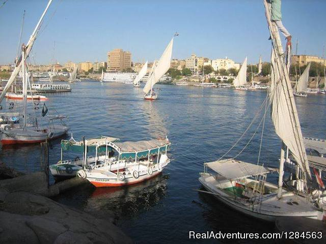 Feluccas at Aswan - Cairo & Nile cruise with flight