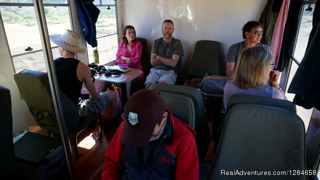 Very social safari vehicle interior - Kruger National Park Game Hotspot Safari's