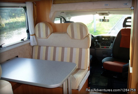 Sitting area - Rent a motorhome and explore Europe
