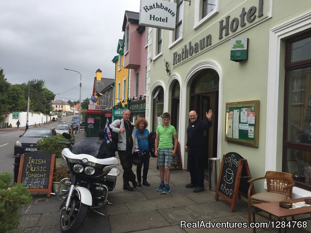 Bikers enjoying Lisdoonvarna - Irish Music Entertainment at Rathbaun Hotel