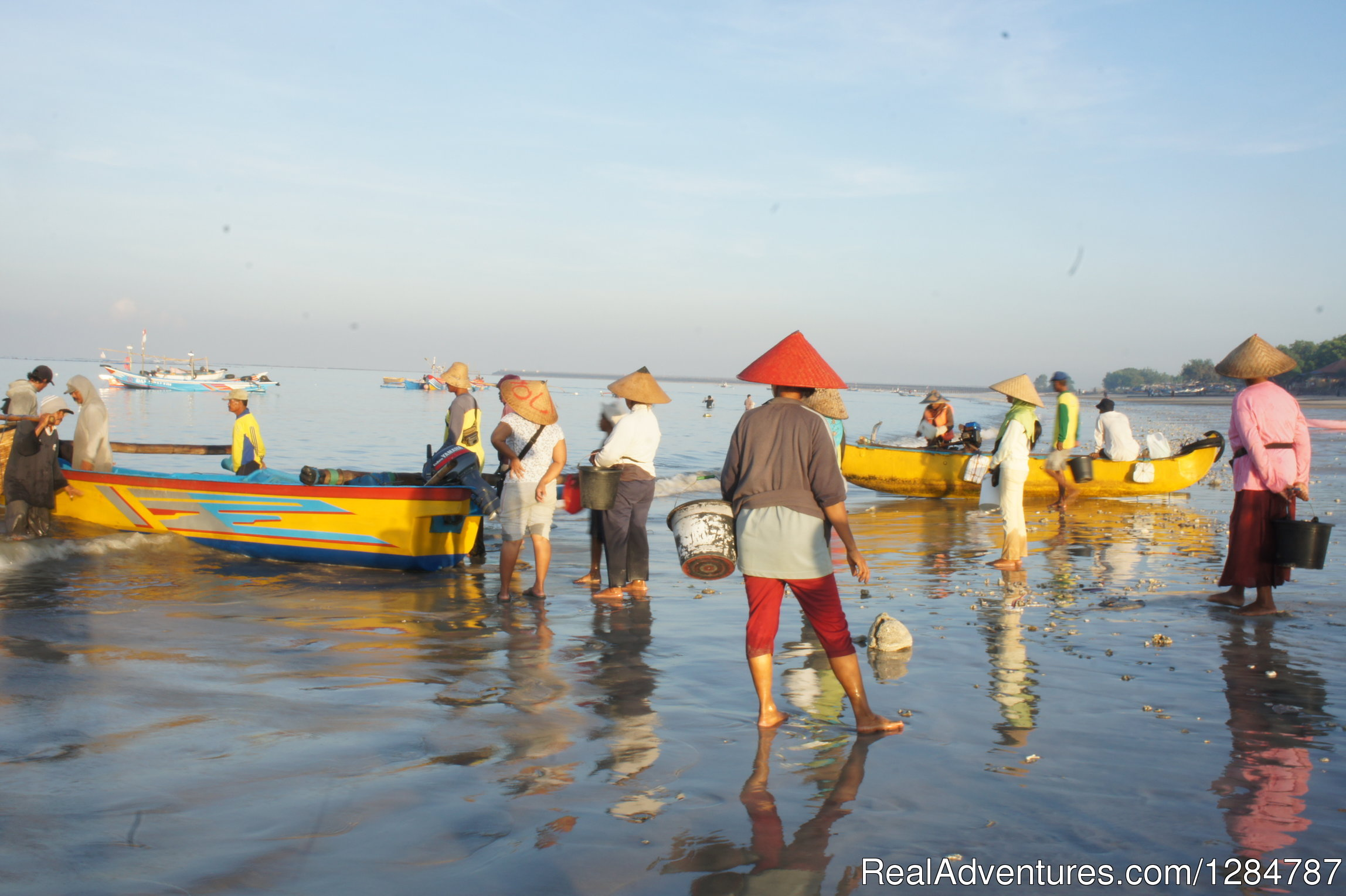 Fishermen on Jimbaran beach