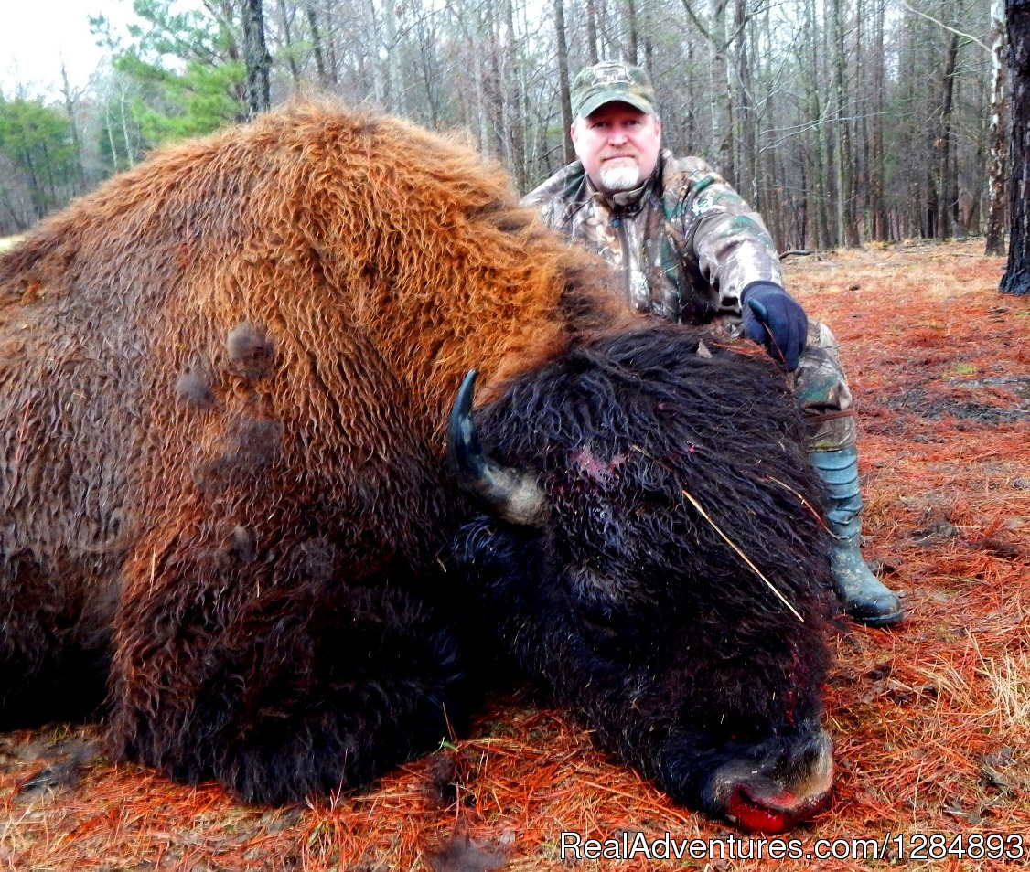 Don with an awesome Buffalo.