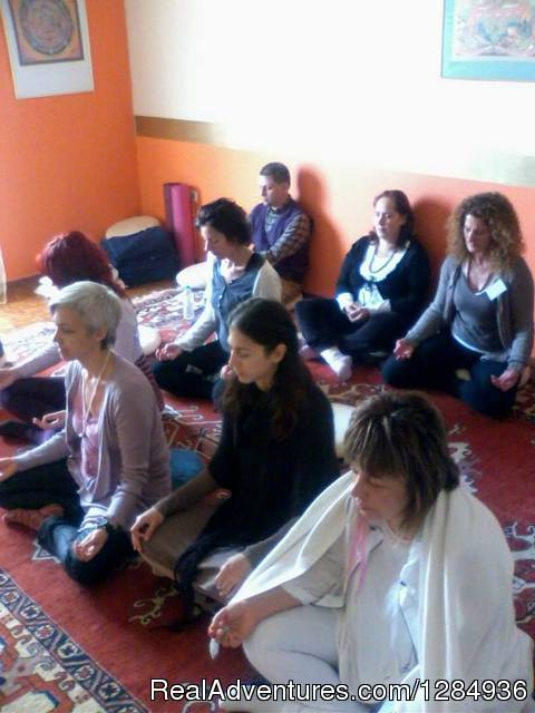 Meditation in progress - Aphrodite's Call Women Retreat