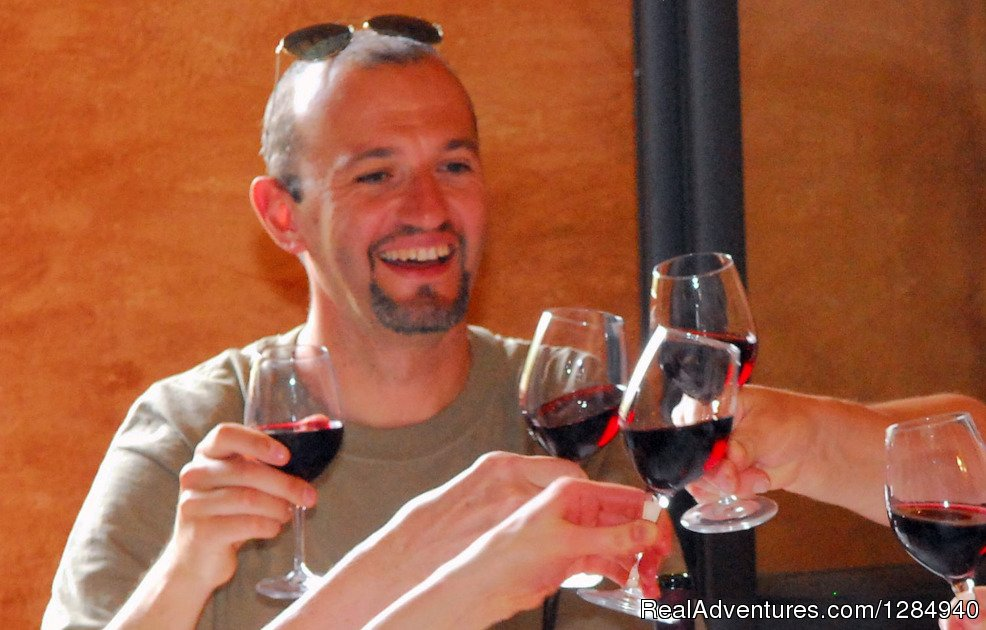 Tasting local wines (Chianti and Brunello)