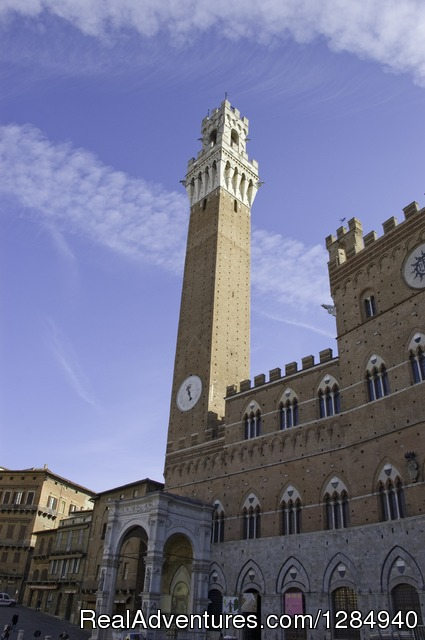 Siena, Torre del Mangia - Tuscany Hilltop Towns Walking Tour May 8-15, 2016