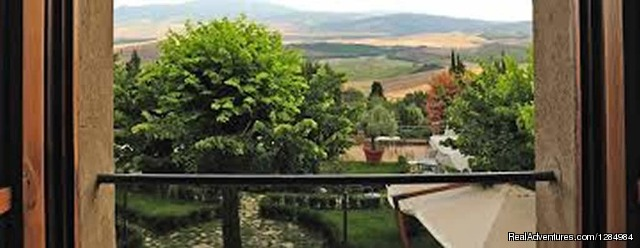 View from Balcony of our Villa - Wine Tasting, Cooking Classes and Art in Tuscany