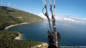 Paragliding guiding and tandem flights holidays Caparica, Portugal Paragliding