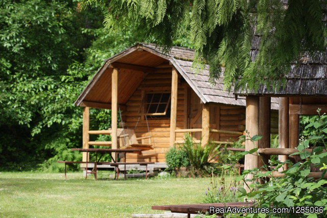 One Room Bunkhouse - Family Fun Camping in a Lovely Forest Setting