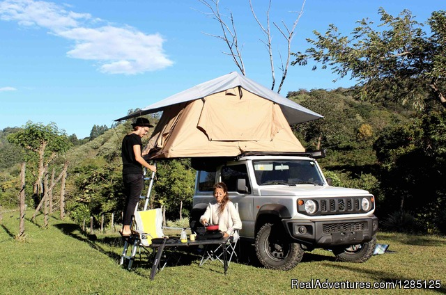 Camping on a beach in Costa Rica - Nomad America Costa Rica Camping 4X4 Roadtrip