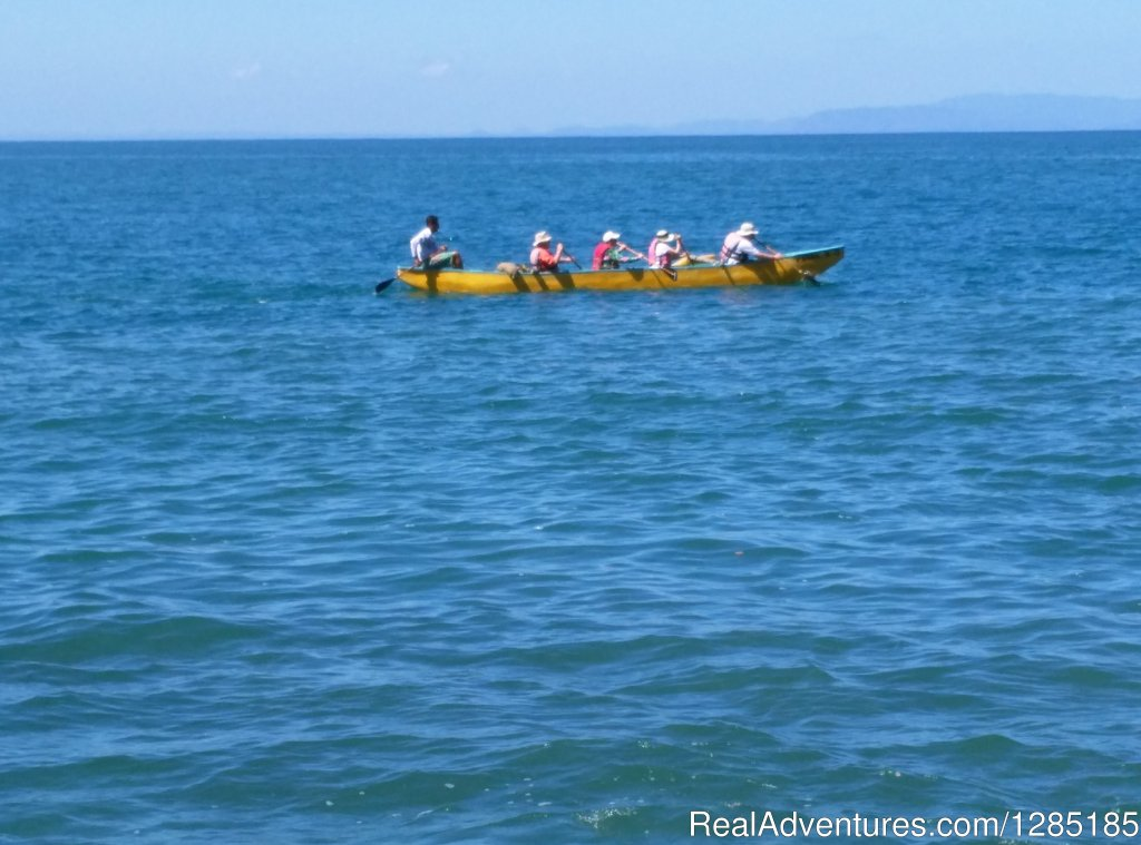 Ocean Canoeing (outriggers) | Image #6/12 | Trekking in Costa Rica 8 days