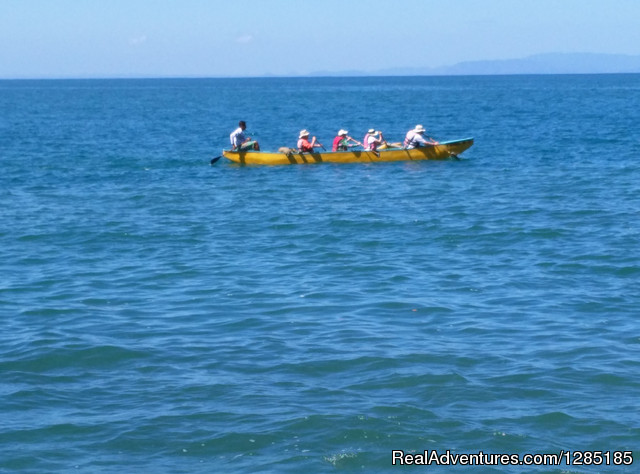 Ocean Canoeing (outriggers) - Trekking in Costa Rica 8 days