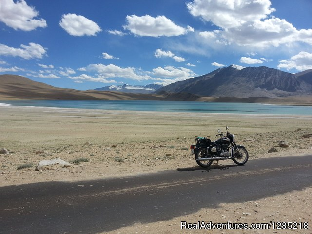 High altitude Himalayan lake - Motorcycle Tours India -Royal Bike Riders