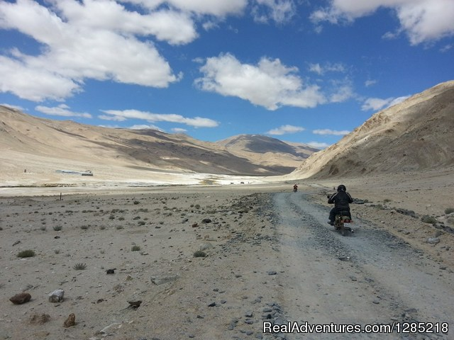Off-road riding in Himalayas - Motorcycle Tours India -Royal Bike Riders