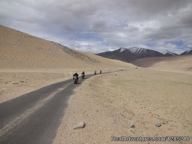 Paved road to Himalayas/India - Motorcycle Tours India -Royal Bike Riders