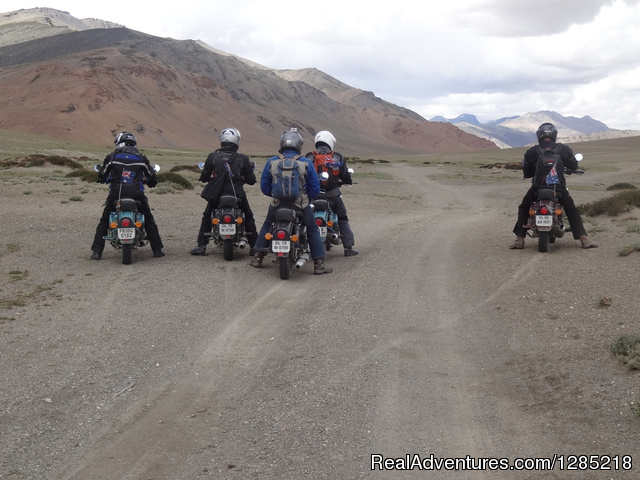 Off-road riding in Ladakh of India - Motorcycle Tours India -Royal Bike Riders
