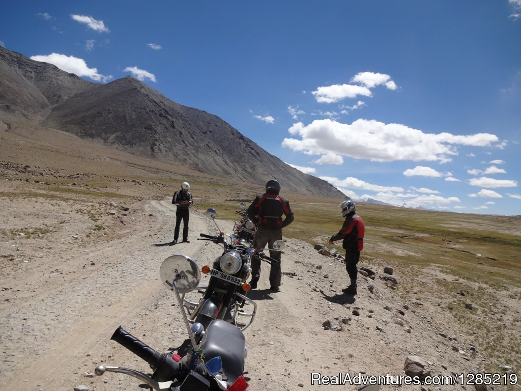 Off-road riding in Himalayas