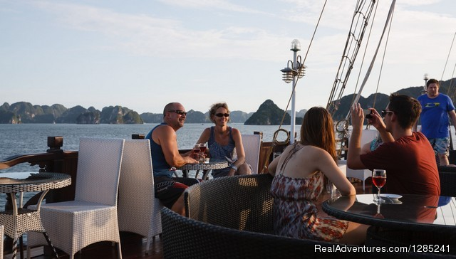 Sundeck on 4th floor - Halong Paloma Cruise