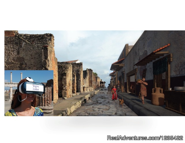 On-site 3d virtual reality tour of ancient Pompeii